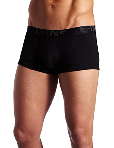 C-IN2 Men's Core Lo No-Show Army Trunk,Black,Large