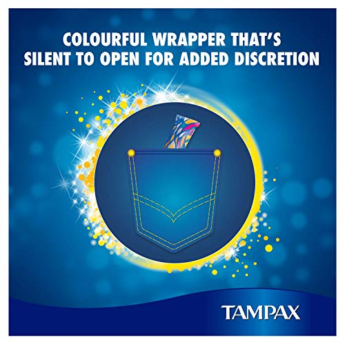 Tampax Pearl Compact Regular Applicator, Tampon for Comfort Protection and Discretion, Super Saving Box, 18-Count