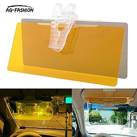 AG-FASHION 2 in 1 Universal Car Anti Glare Headlight Sun Visor Shade Board Day and Night Anti-dazzle Mirror Auto Glasses Driver Night Vision Goggles for Day & Night