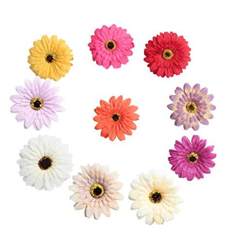 Sharplace 100er Kunstseide Kunstblumen Blütenköpfe Hochzeit Partydeko Wohnaccessoires - gemischt