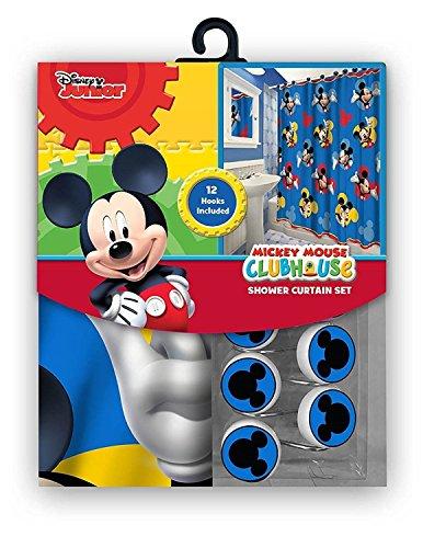 Das 13-teilige Disney Mickey Mouse Clubhouse Vorhang für die Dusche und Haken Set