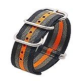 nato Band Premium Nylon Uhrenarmband Band mit Edelstahlschließe