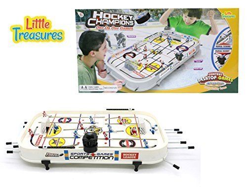 Little Treasures Head-to-Head Table Hockey Competition Game Set With 6 Red Players and 6 Blue Players