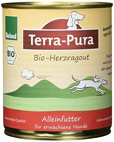 Terra Pura Bio Hundefutter Herzragout 800 g Getreidefrei, 6er Pack (6 x 800 g)