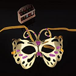 Spritech (TM) hermosa fiesta de Halloween máscara de Abeja de colores Dibujo o patrón Golden