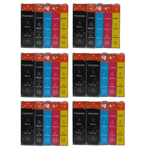 30_84666_IPMG_FR - Pack de 30 Cartouches d'Encre Compatibles pour imprimante Canon PIXMA remplacer PGI-525BK CLI-526 bk c m y
