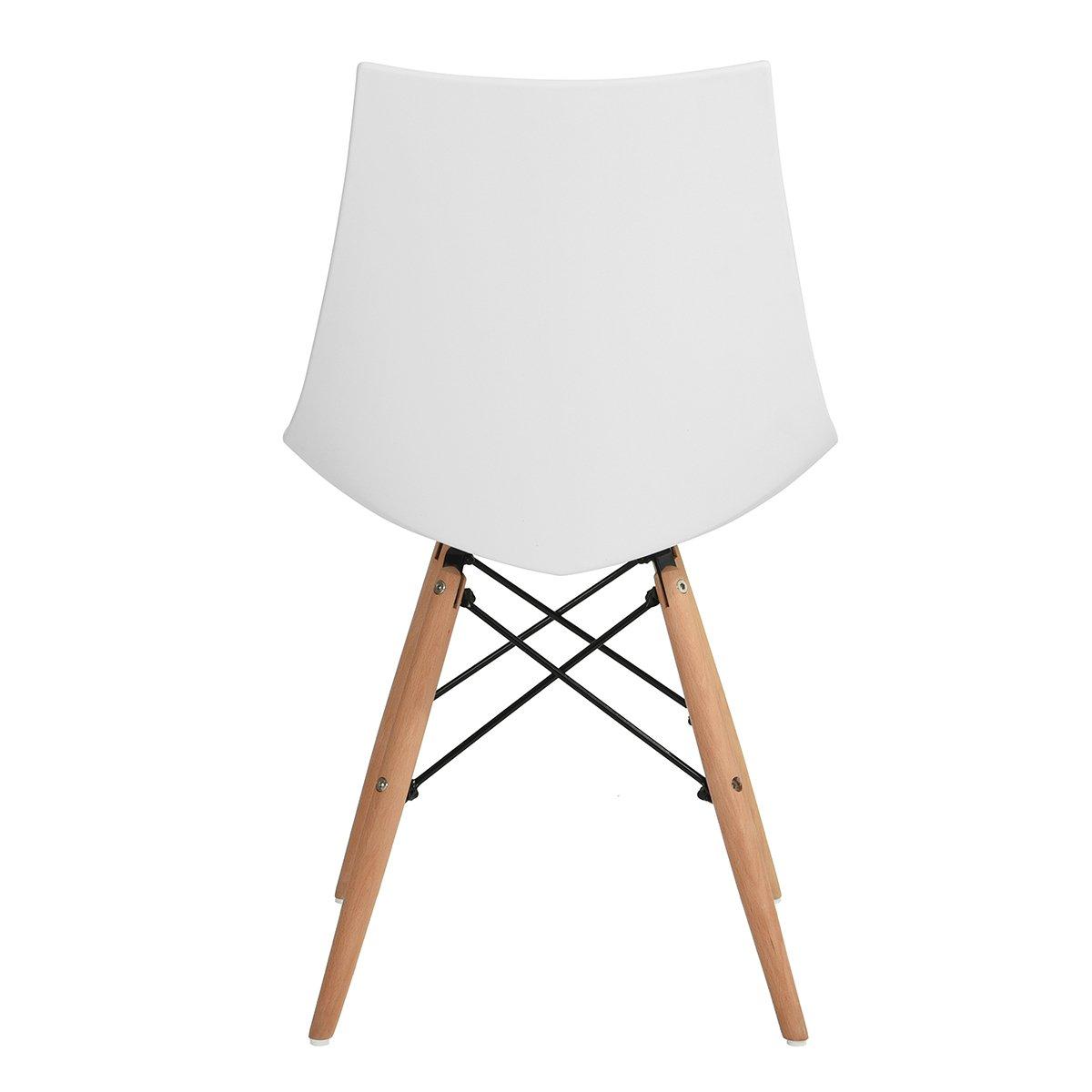 6er set wei holz k chenst hle retro gepolsterter b rostuhl esszimmer 50 48 82cm ebay. Black Bedroom Furniture Sets. Home Design Ideas