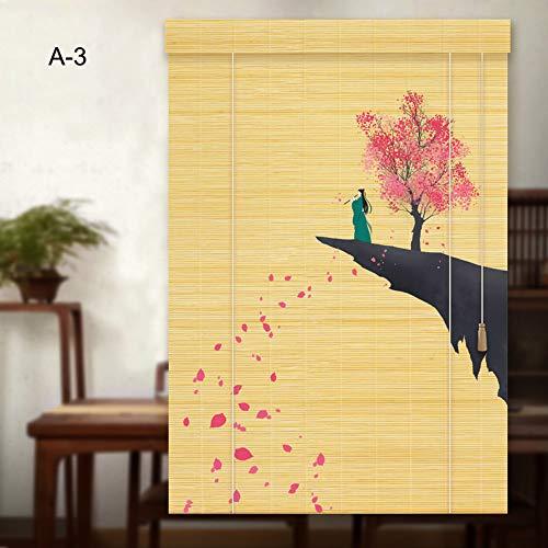 Yuanjj tende di rullo - tapparelladibambù,cortina stampata hd, mobili orientali, stile cinese, parete divisoria/finestra/cortile