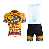 hebike Dragon Peignoir pour vélo Maillot de cyclisme pour homme à manches courtes Maillot + Short pour garçon combinaison Bavoir/de vélo pour homme, Homme Enfant, Jersey + Bib
