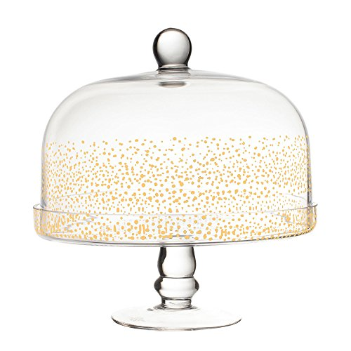 Fitz and Floyd 212700-PDCP Luster Podestal, Glas, gold Floyd Serveware