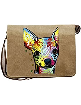 Pop Art Canvas ::: Chihuahua ::: peppige Umhängtasche mit Art Style Hunde Motiv