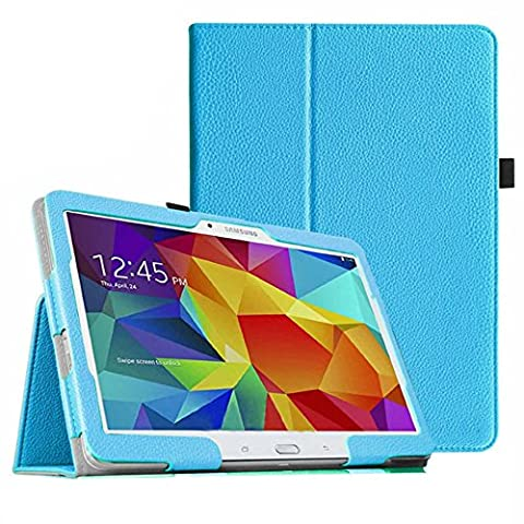Hülle für Samsung Galaxy Tab 4 SM-T530 10.1 Zoll Schutzhülle Etui Tablet Tasche Smart Cover T531 T535 (Hellblau) (Angebot Tablet)