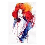 WonderwallPoster WP353A2 Kunst-Druck Frau Poster – DIN A2+ 42 x 61 cm (Weitere Größen verfügbar) – Besonders edler Glanzfinish