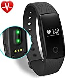Fitness Tracker, Willful Activity Tracker Cardio HR Bluetooth Pedometro Cardiofrequenzimetro da Polso con Fascia Orologio Bracciale Fitness Watch Band Contapassi per Android iOS iPhone Donna Uomo