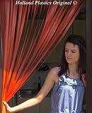 Wohnwagen-Türvorhang, Fliegengitter, Insektenschutz, Streifenvorhang -Apfelsine- 62cm breit