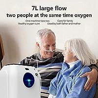 WFWPY Generador concentrador de oxígeno portátil Máquina de oxígeno Ajustable purificador de Aire 1-7L / Min Ajustable para Uso doméstico y de Viaje Generador de oxígeno