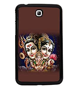 printtech Lord God Shiva Parvati Family Back Case Cover for Samsung Galaxy Tab 3 7.0 :: Samsung Galaxy Tab 3 T211 P3200