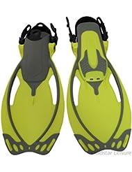 Guante del cuerpo del cabrito Junior Alcance aletas - amarillo, talla UK 9 - 12