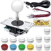 Arcade Joystick para RPi PC, Quimat Codificador USB de Cero Retardo Joystick de 8 vías / 4 vías 13 Botones de Función para PC Raspberry Pi Window QR11-W