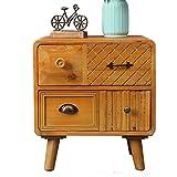 HTZ Nachttisch Tisch Nachttisch Holz Schränke Schließfächer Nachttisch Schrank Schrank Massivholz Couchtisch Sofa Beistelltische Nachttisch Schlafzimmer Tisch Möbel (Größe: 50x40x55cm) +