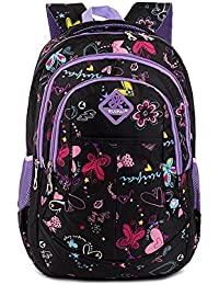 f137b54122 Tofern Sac à Dos Scolaire Graffiti Design Ergonomique Antichoc Ordinateur  Portable Tablette Fille Garçon Enfant Cartable