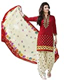 Dresses for women party wear new top Designer Dress Material Today offers buy online in Low Price Sale Red Color Cotton Fabric Unstitched Salwar Suit