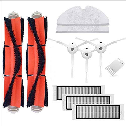 bürsten + 3 Filter + 3 Seitenbürsten + 1 Klinge + 2 Moppstücke), Roboter-Staubsauger Ersatzteile und Zubehör-Kit für Xiaomi Kehrmaschine Roboter-Staubsauger, S50 (Color : A) ()