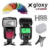 Flash TTL HSS Gloxy GX-F990 para Canon EOS 1300D, 1200D, 550D, 650D, 600D, 750D,...