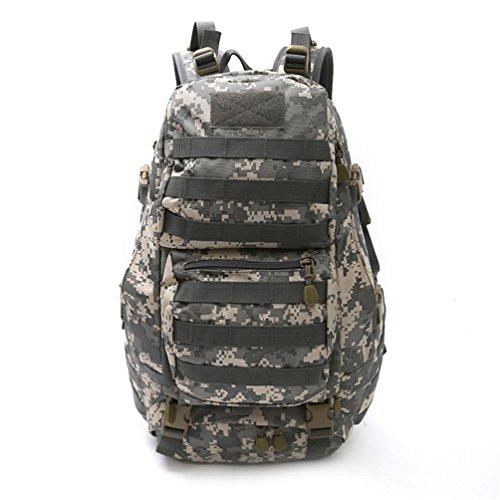 F@Zaino tattico nylon impermeabile, sacchi, Campeggio attacca i pacchetti campo Camo zaino outdoor caccia Zaini, Digital Camo , C B
