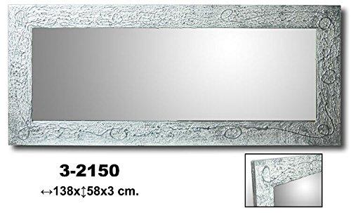 DonRegaloWeb-Espejo-de-pared-de-madera-rectangular-en-color-plateado
