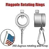 Sinnper Aluminium Fahnenmast Montageringe, Legierung, Fahnenmast drehbare Ringe Clip Anti-Wrap Tülle Montagewerkzeug, 1.26in