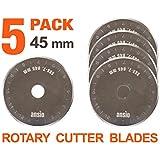 45mm Rotary Cutter Blades X 5Unidades | Premium Sharp hoja de acero inoxidable | perfecto para acolchado, Manualidades, Sastrería