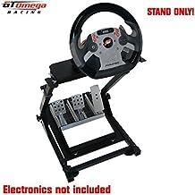 GT Omega Steering Wheel stand suitable For the Fanatec CSR Wheel & CSR elite pedals [Importación Inglesa]