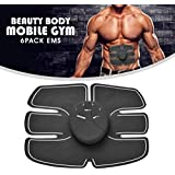 Gopani Wireless Electro Pad 6 Pack EMS Tummy Flatter for Men and Women, Medium (Black)