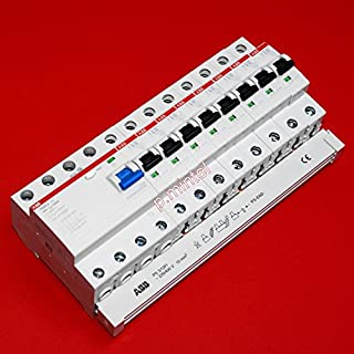 TM: ABB 1x FI F204A-40/0,03 + 8x ABB LS-Schalter S201-B16 + 1x PS3/12+FI Sammelschiene