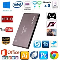 Guleek I8ii Pocket Wintel Mini Pc desktop computer Tv Box Windows 10 HD Media Player con Metal Case Intel Atom Z3735f CPU quad-core da 2 GB DDR3 32GB eMMC 2.4 e 5.8GHz Wifi Bluetooth 4.0 Batteria
