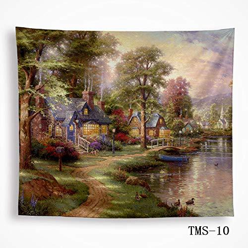 mmzki Tapisserie Tapisserie Tischdecke Wandbehang Wanddekoration Landschaftsbilder 10 200x150