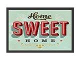 Retro Fußmatte Türmatte HOME SWEET HOME amerikanischer Landhausstil