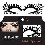 Bluelover Tomba Croce Ragno Web Halloween Occhio Tatuaggio Sticker Morbido Pizzo Traforato Papercut Masquerade