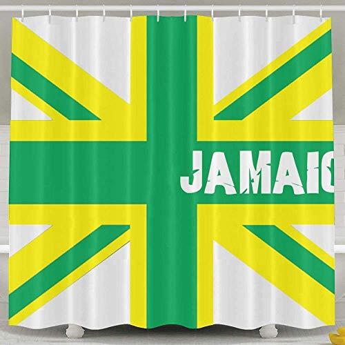 Duschvorhang,Jamaican Kingdom Flag Shower Curtain Custom Waterproof Fabric Shower Curtain Sets Decoration - 60x72inch for Women and Men Bathroom Accessories