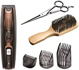 Remington MB4045 Beard Kit (Beard Trimmer, Mixed Boar Bristle Beard Comb and Stainless Steel Scissors)