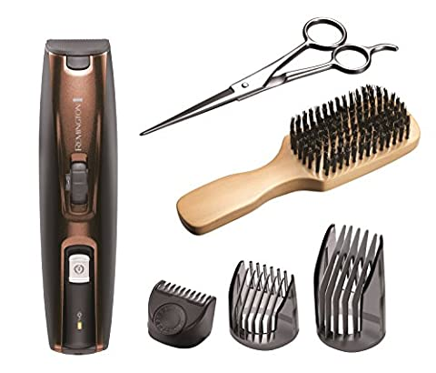 Remington MB4045 Beard Kit (Beard Trimmer, Mixed Boar Bristle Beard Comb and Stainless Steel
