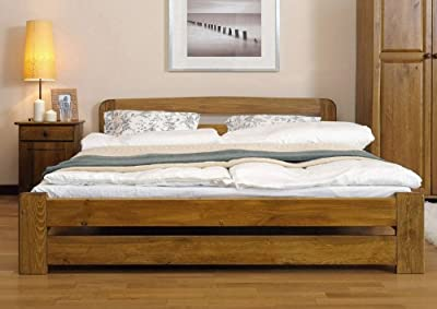 The ONE bed frame , various colours : oak , walnut , alder , pine , sizes : single 3ft , small double 4ft , double 4ft 6in , King size 5ft - low-cost UK bed store.