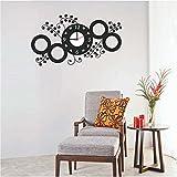 #8: Syga Black Circles PVC Vinyl Wall Clock (35 cm x 17 cm x 5 cm)