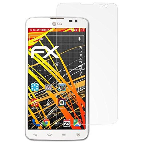 atFolix Schutzfolie kompatibel mit LG G Pro Lite Bildschirmschutzfolie, HD-Entspiegelung FX Folie (3X)