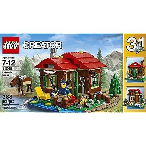 Brick Box Building Creator LEGO 368 Pcs Lakeside Lodge 3-in-1 Toys by LEGO