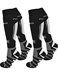 1 oder 2 Paar Ski- / Snowboardsocken Thermo Unisex atmungsaktiv