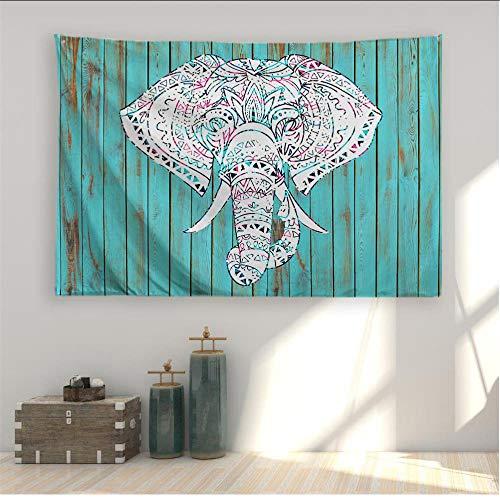 mubgo Tapiz Tapiz Tapiz De Elefante Colgante De Pared Naturaleza Arte Tejido De Poliéster Animal Tema Decoración De Pared para Dormitorio Dormitorio Sala De Estar Incluida 150x200cm