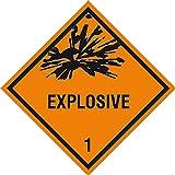 Gefahrzettel (Gefahrgutaufkleber) Für verschiedene Klassen Bild-Nr. 140 Größe: 10,0 x 10,0cm selbstklebende PVC-Folie