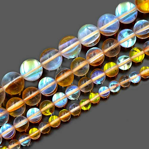 FidgetGear Runde Perlen aus AB-Kristall, 6 mm, 8 mm, 10 mm, 12 mm, 08 Topaz Ab, 10 mm -